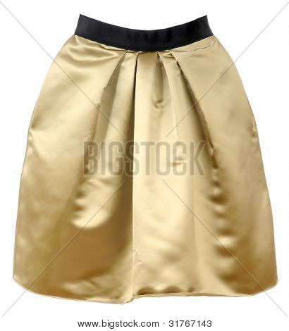 golden skirt