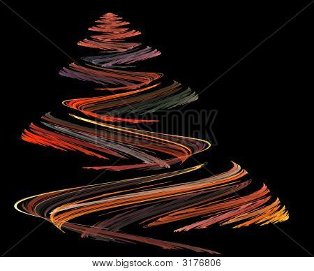 Colorful Christmas Tree Illustration
