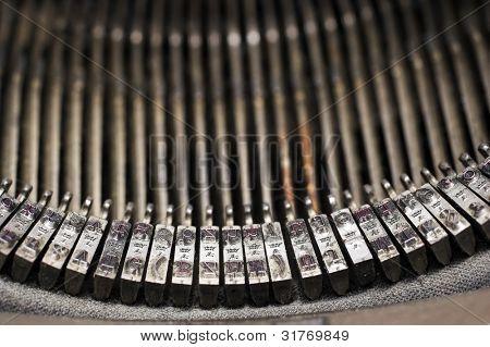 Closeup of a vintage typewriter