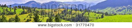 Mountains landscape from Bucovina, Romania