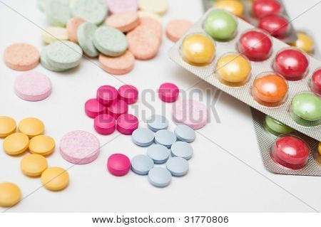 A collection of colorful pills