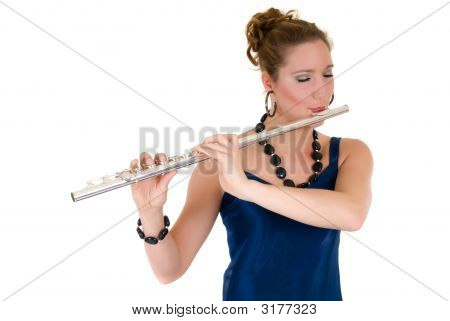 Attractive Flautist