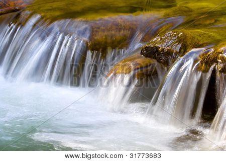 Small waterfall, long exposure