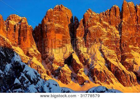 Mountain top in the dolomiti mountains
