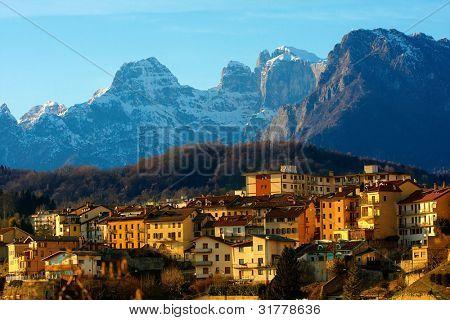 Dolomites (Belluno, Italy). Panorama.