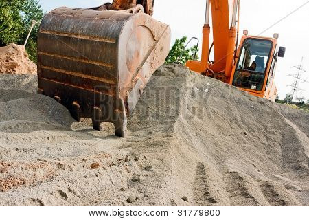 BIG Excavator at a construction site