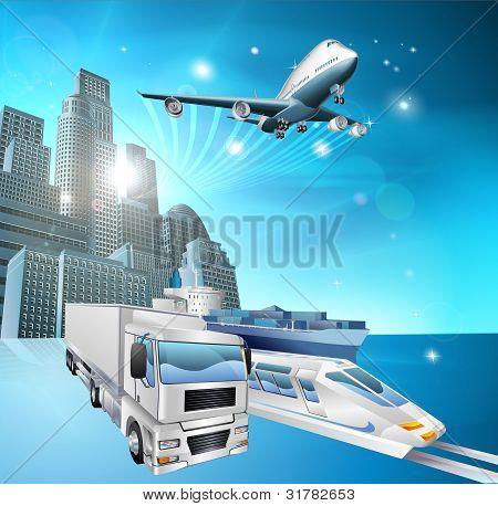 Logistics City Concept