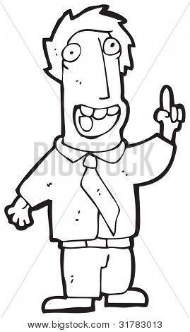 cartoon man with sudden idea