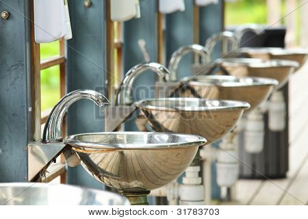 sinks and taps in outdoor