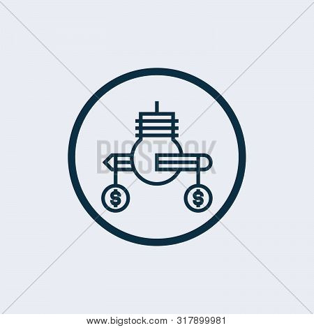 poster of Profit Icon Isolated On White Background From Recruitment Collection. Profit Icon Trendy And Modern