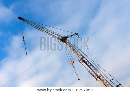 jib with blue sky background