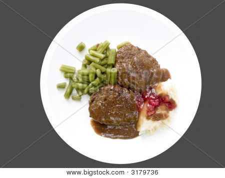 Salisbury Steak Isolated