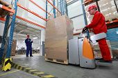 stock photo of factory-worker  - Goods delivery  - JPG