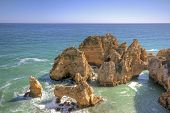 Beautiful southcoast near Lagos in the Algarve Portugal