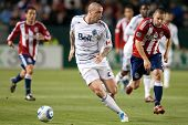 CARSON, CA. - JUNE 1: Vancouver Whitecaps FC F Eric Hassli #29 during the MLS game between Vancouver