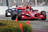 LONG BEACH - APRIL 17: Dario Franchitti driver of the #10 Target Chip Ganassi Racing Dallara Honda r