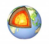 stock photo of outer core  - Structure of the Earth - JPG