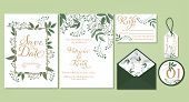 Wedding Floral Template Collection. poster
