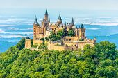 Hohenzollern Castle On Mountain Top, Germany. This Castle Is A Famous Landmark In Vicinity Of Stuttg poster