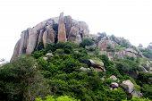 Interesting Rock Formation On Hill At Ramagiri Near Ramanagara, Karnataka, India, Asia poster