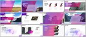 Minimal Presentations Design, Portfolio Vector Templates With Colorful Gradient Geometric Background poster
