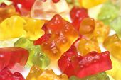 image of gummy bear  - Gummy bears in macro shot - JPG