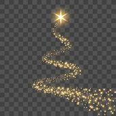 Star Trail Isolated Black Transparent Background. Gold Light Comet, Golden Glittering Sparkle. Twink poster