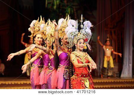 PATTAYA, THAILAND -  DECEMBER 2012, Traditional Thai show in a Nongnooch Garden in Pattaya, December