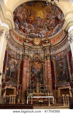 Jesuit Church Of St Ignatius In Dubrovnik Interior