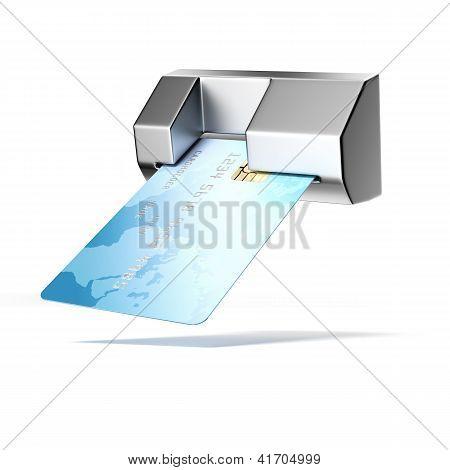 Credit card in atm