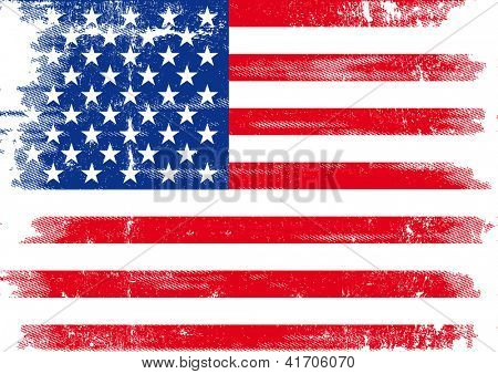 US dirty flag. An american grunge flag for you.