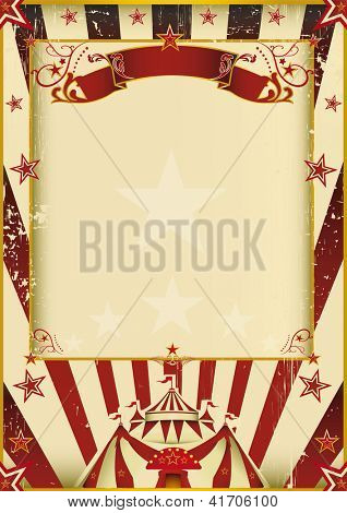 Circo fantástico. Um novo plano de fundo (vintage, texturizado) no tema de circo. Divirta-se!