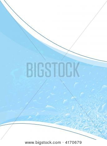 Blue Water Droplets Layout