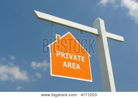 Private Area Signpost
