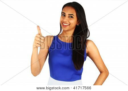 Portrait Of A Young Business Woman Smiling.