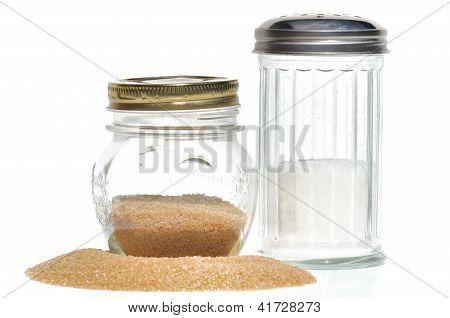 Zucker-Schalen für brauner Zucker und weiß