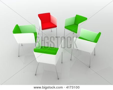 Chairs Meeting. 3D Rendering