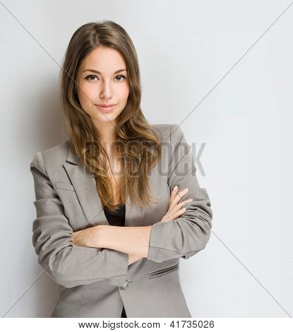 Stylish Young Brunette Woman.