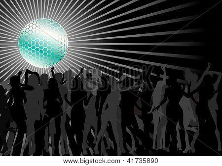 Multitud de baile
