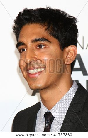 LOS ANGELES - FEB 1:  Dev Patel arrives at the 44th NAACP Image Awards at the Shrine Auditorium on February 1, 2013 in Los Angeles, CA.