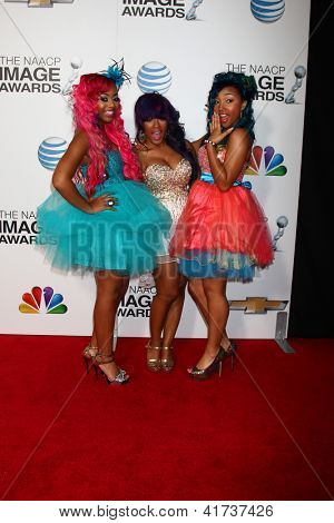 LOS ANGELES - FEB 1:  OMG Girlz arrives at the 44th NAACP Image Awards at the Shrine Auditorium on February 1, 2013 in Los Angeles, CA.