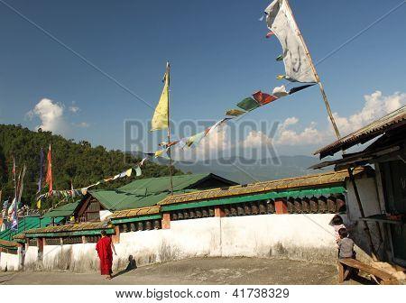 Prayer Wheels at Rumtek Monastery, Gangtok, Sikkim, India.