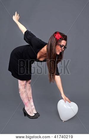 Loving Lolita Bent Holding Balloon