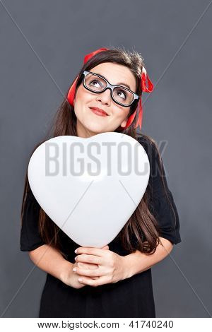 Loving Lolita Heart Balloon