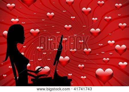 Girl In Love On The Internet