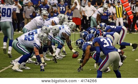 Cowboys And Giants Line Up