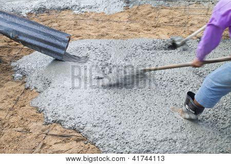 Pour The Cement Floor