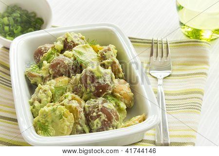 Potato Salad With Avocado And Sour Cream Dressing