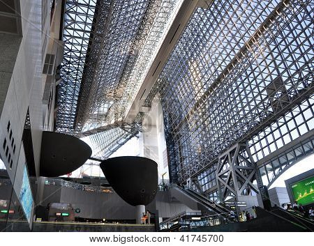 Kyoto, Japan - Oct 27: Kyoto Station Is Japan's 2Nd Largest Train Station And Its Futurism Architect