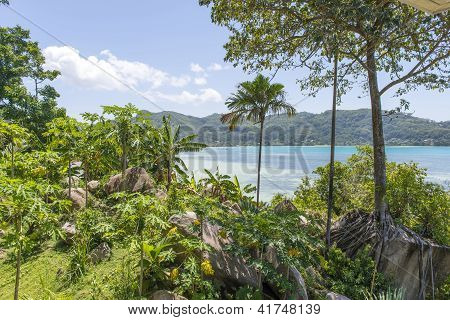 Perfect Seascape View With A Tropical Hotel,  Seychelles